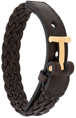 Tom Ford T logo braided bracelet