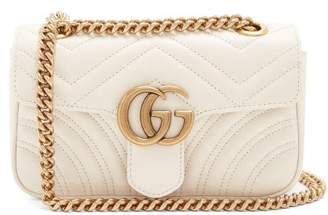 Gucci Gg Marmont Mini Quilted Leather Cross Body Bag - Womens - White