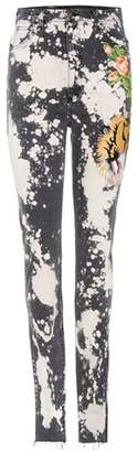 Gucci Embroidered stretch-cotton skinny jeans