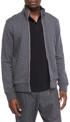 Moncler Full-Zip Track Jacket, Gray