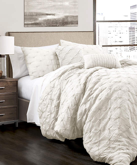White Five-Piece Ravello Comforter Set
