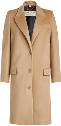 Burberry Fellhurst Wool Coat with Cashmere