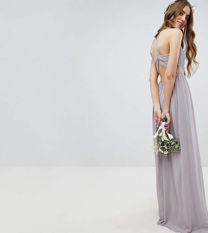 TFNC Tall – Maxikleid für die Brautjungfer mit verzierter Rückseite