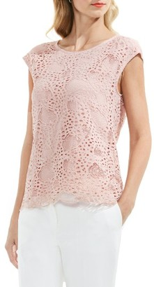 Women's Vince Camuto Lace Top $89 thestylecure.com
