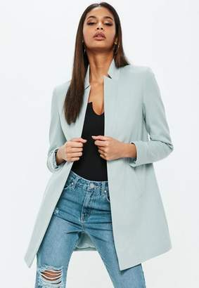 Missguided Blue Notch Collar Formal Coat