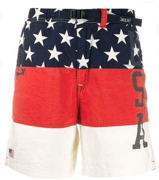 Polo Ralph Lauren USA colour block shorts