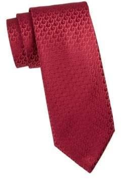 Charvet Silk Geometric Pattern Tie