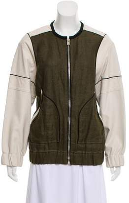 IRO Paul Leather-Accented Jacket
