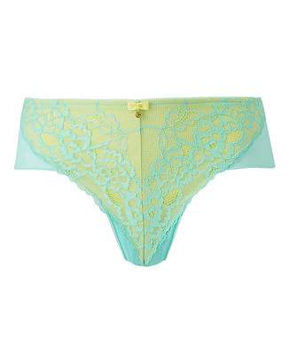 335775f02595 Ann Summers Lace 2 Shorts Mint/Lemon