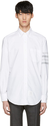 Thom Browne White Four Bar Classic Shirt $570 thestylecure.com