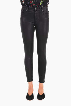 7 For All Mankind Black Coated Ankle Skinny Jeans