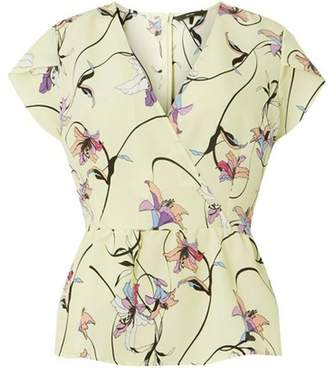 Vero Moda Womens **Vero Moda Lemon Print Wrap Top