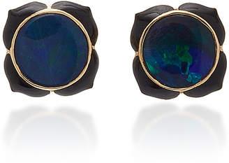 Noor Fares Muladhara Black Opal Stud Earrings