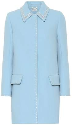 Miu Miu Embroidered wool coat