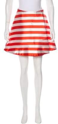 Vivetta Striped A-Line Skirt