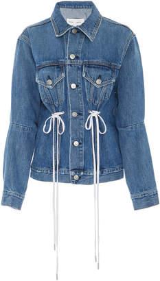 Proenza Schouler PSWL Denim Jacket With Drawstring Detail