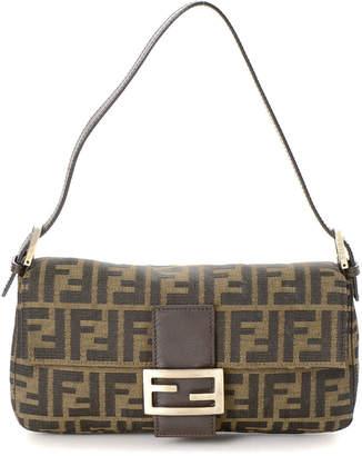 Fendi Zucca Baguette Shoulder Bag - Vintage