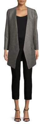 Lanvin Heathered Open-Front Cardigan