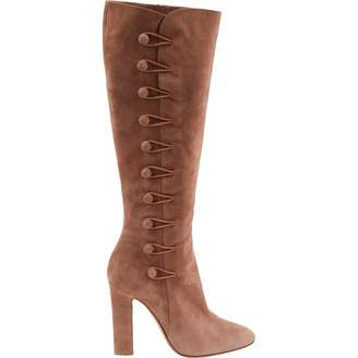 Gianvito Rossi Pink Suede Boots