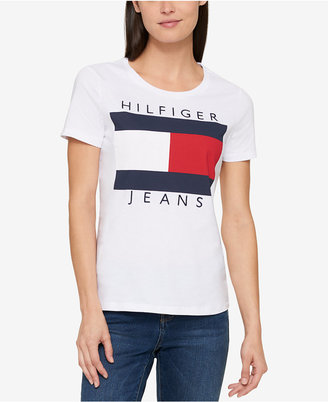 Tommy Hilfiger Cotton Logo T-Shirt, Created for Macy's $39.50 thestylecure.com