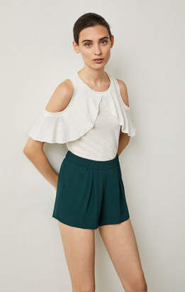 BCBGMAXAZRIA Micah Pleated Shorts