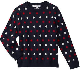 Brooks Brothers Girls' Polka Dot Sweatshirt