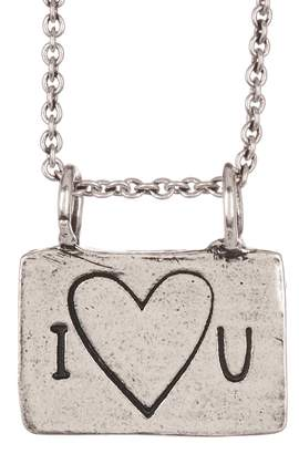 Alisa Michelle Silver I Heart You Necklace