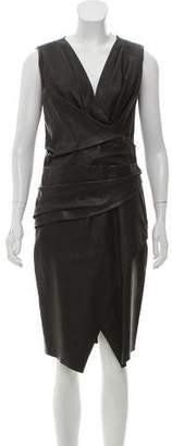J. Mendel Gathered Leather Dress