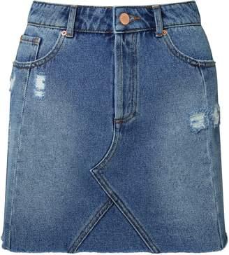 Miss Selfridge Mid Wash Seamed Denim Skirt