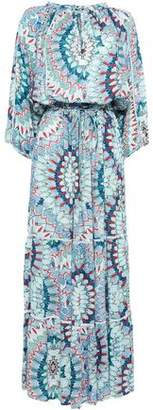Melissa Odabash Tiered Printed Pique Coverup