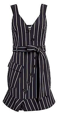 Derek Lam 10 Crosby Women's Striped Stretch Mini Dress - Size 0