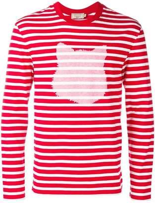 MAISON KITSUNÉ horizontal stripe T-shirt