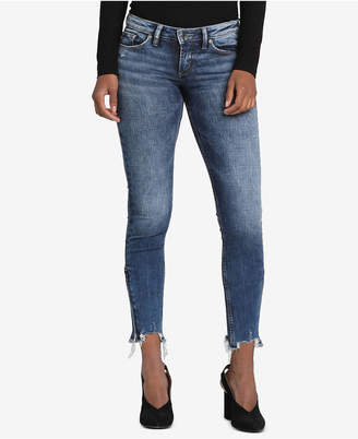 Silver Jeans Co. Tuesday Raw-Hem Skinny Jeans