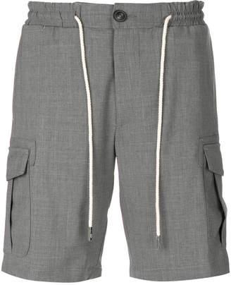 Eleventy drawstring cargo shorts