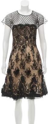 Oscar de la Renta Lace Knee-Length Dress