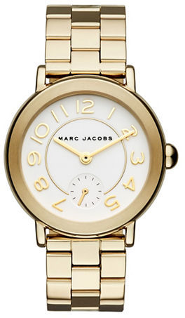 Marc Jacobs Marc Jacobs Goldtone Stainless Steel Link Bracelet Watch, MJ3470
