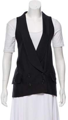 Proenza Schouler Double-Breasted Shawl Collar Vest