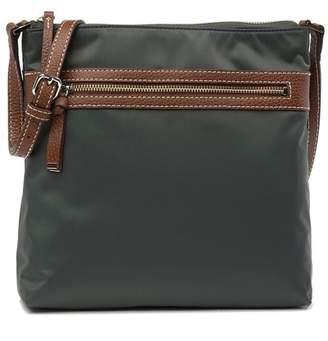 Halogen Nylon Zip Crossbody Bag