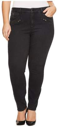 NYDJ Plus Size Plus Size Alina Legging Jeans with Zippers in Future Fit Denim in Campaign Women's Jeans