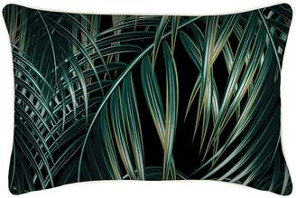 Camilla And Marc Escape to Paradise Bali Indoor/Outdoor Cushion Cover, Black, Green 35x50 cm