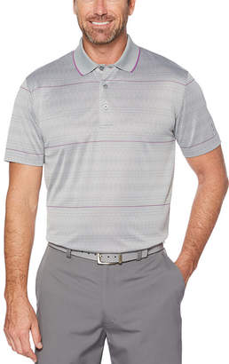 PGA Tour TOUR Easy Care Short Sleeve Pattern Doubleknit Polo Shirt
