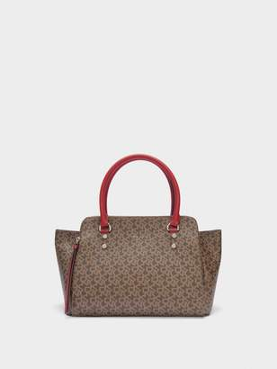 DKNY Town & Country Logo Satchel