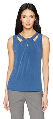 Nine West Women's Solid Criss Cross Ity Cami