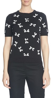 CeCe Intarsia Bow Sweater $79 thestylecure.com