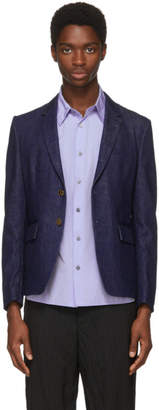Thom Browne Navy Denim Unconstructed High Armhole Blazer