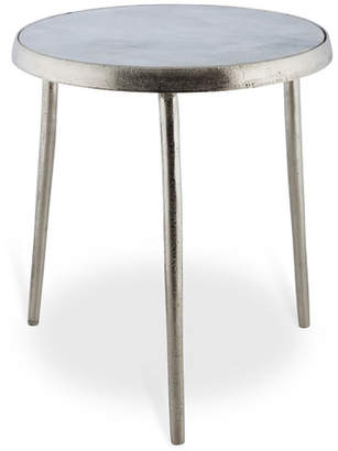 3 Legged Silver Coloured Side Table Finish: Raw Nickel/Silver,
