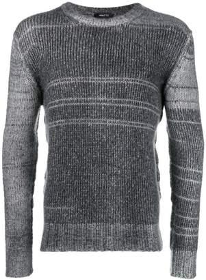 Avant Toi striped rib knit sweater