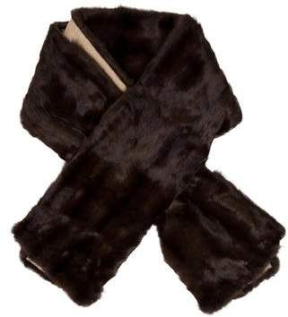 J. Mendel Cashmere-Lined Sable Fur Stole