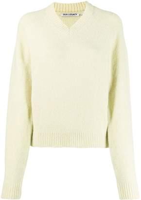 Our Legacy V-neck raglan-sleeves jumper