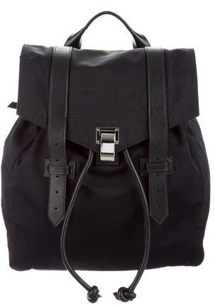 Proenza Schouler Leather-Trimmed Courier Backpack